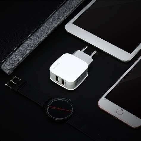 Grosir Travel Charger Adapter Mobile Plush Micro Usb Charger baseus universal phone usb charger dual ports travel wall charger adapter 2 4a eu us mobile