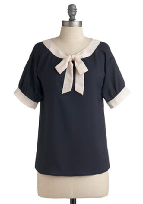 Blouse Bj Navy just skirts and dresses bow tie blouse ideas