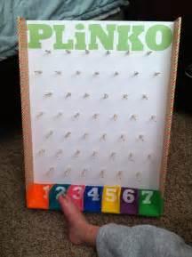 Backyard Carnival Party Ideas Foam Board Plinko Game Singing Time Pinterest