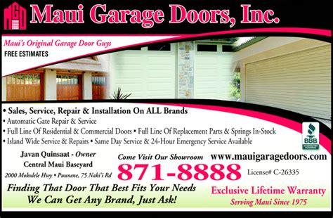 Ads Garage Doors Garage Doors Inc Puunene Hi 96784 0071 Yellowbook