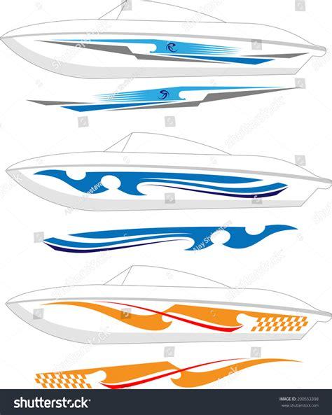 vinyl striping for boats boat graphics stripe vinyl ready stock vector 200553398