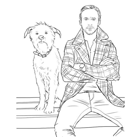 coloring pages for adults buzzfeed a ryan gosling coloring book for your adult life