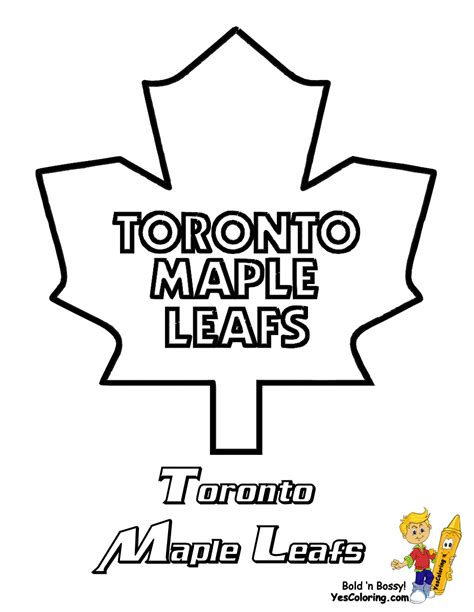 Toronto Maple Leafs Coloring Pages Hockey Coloring Pages