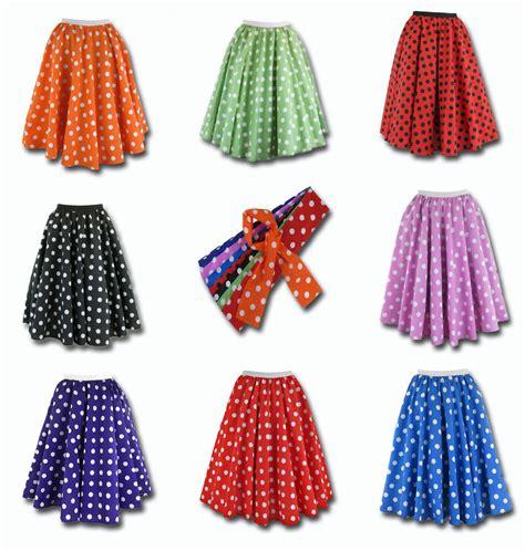 Rok Skirt Polkadot polka dot skirt scarf rock roll fancy dress 50 s jive grease costume ebay