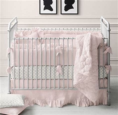 restoration hardware baby bedding frayed ruffle nursery bedding collection restoration