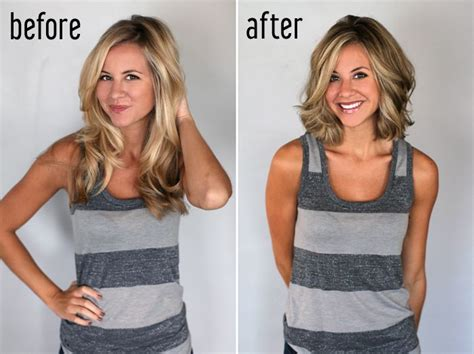 before and after long to short hair before and after long bob hair world magazine