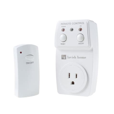 lavish home 12 volt wireless outlet remote kit
