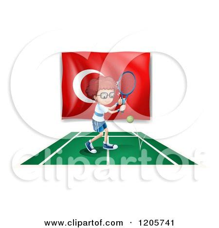 clipart of a boy tennis by himself royalty free vector illustration by colematt 1230639