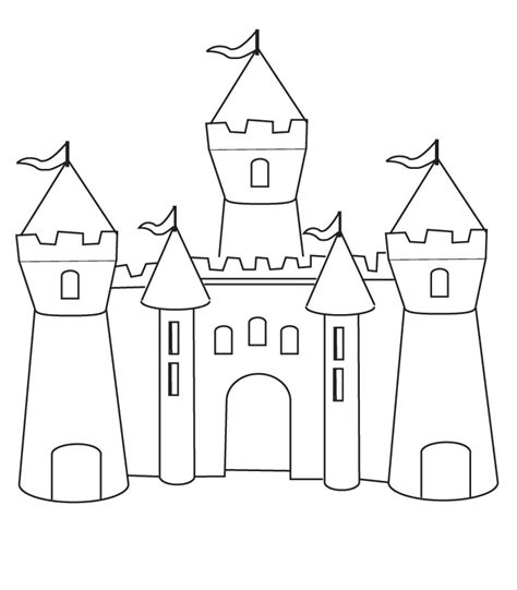 sketches of fairy tale castle coloring pages