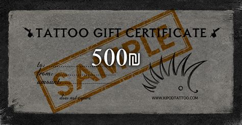 tattoo gift card 500 gift card kipod
