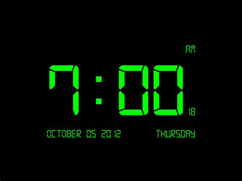 digital clock 7