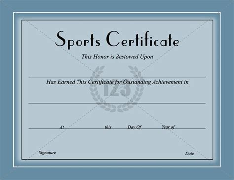 sport certificate template award them with best sports certificates template for best