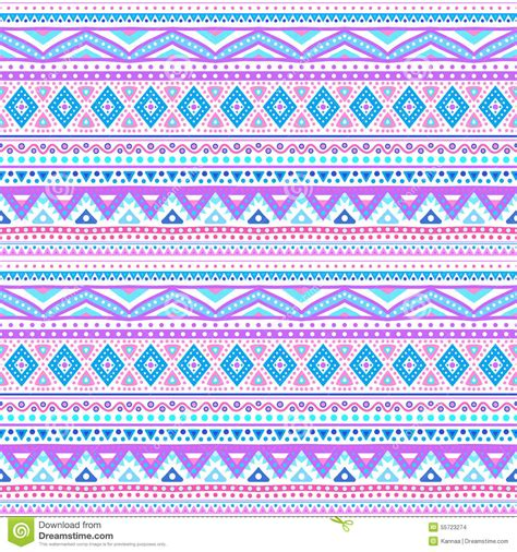 cute aztec pattern tribal ethnic seamless stripe pattern vector stock vector