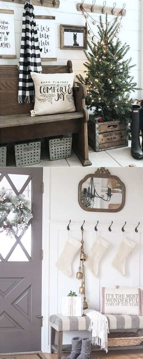 100 monochrome home decor home tour decorate with christmas entryway 100 favorite christmas decorating