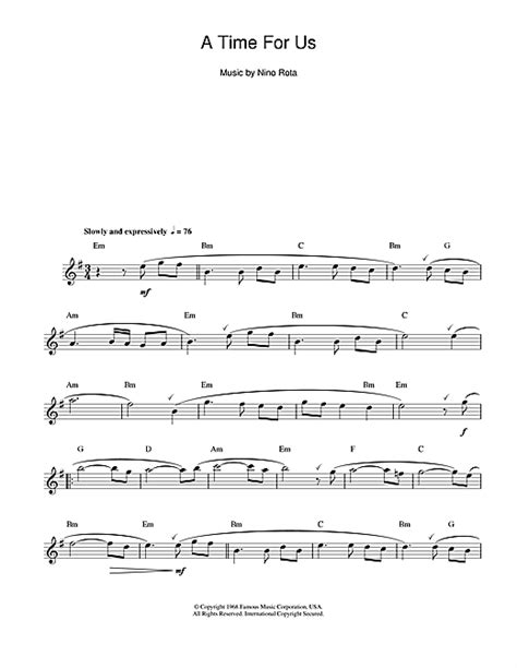 love theme from quot romeo and juliet quot sheet music by nino spartito flauto romeo and juliet love theme di nino rota