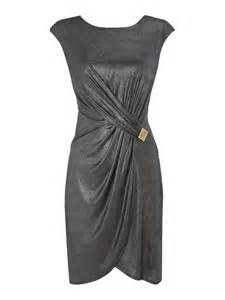metallic silver drapes biba drape jersey metallic dress in metallic lyst