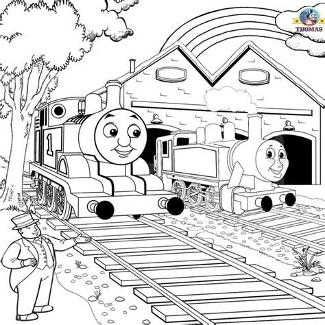rosie train coloring page free printable railway pictures thomas scenery drawing for
