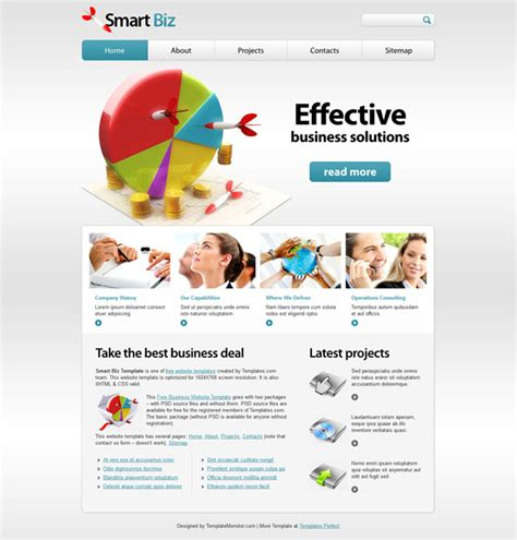 free business html5 template templates perfect