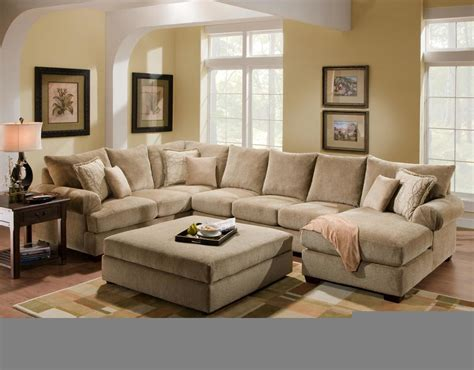 u shaped couch with ottoman decorating modern living room ottoman to create a
