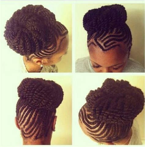 loose cornrow cornrow twist bun hair fanatic pinterest twists