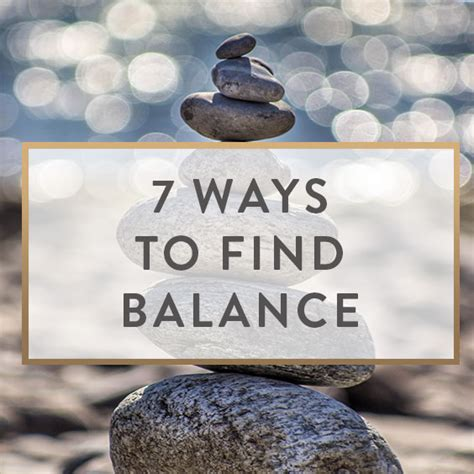 7 Uncommon Ways To Find A by 7 Ways To Find Balance It Starts With Coffee By