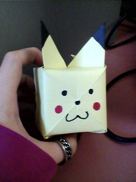 Pikachu Origami Cube - pikachu origami cube by xxkeybladwielder14xx on deviantart