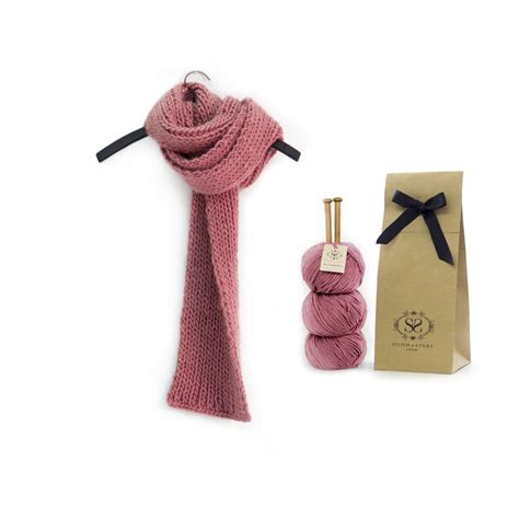 knit kits make your own beginner vale scarf knitting kit by stitch