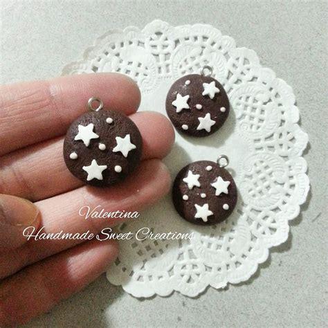 Charm Kura Kura Tembaga 2cm ciondolo biscotto pan di stelle fimo materiali