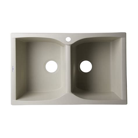 granite composite kitchen sinks alfi brand ab3220di 32 in drop in double bowl granite
