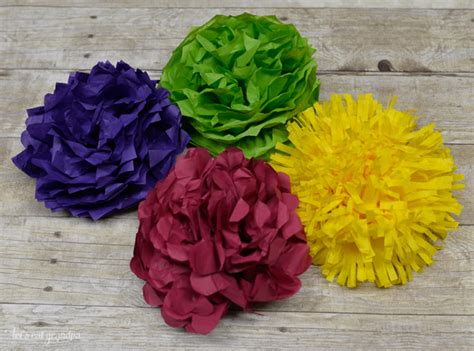 Make A Out Of Tissue Paper - how to make tissue paper flowers four ways hey let s