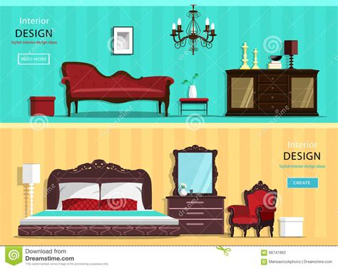 Design This Home Room Unlocked Set Of Vintage Interior Design House Rooms With Furniture