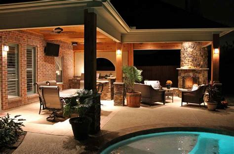 covered patio with fireplace covered patio corner fireplaces ideas creative
