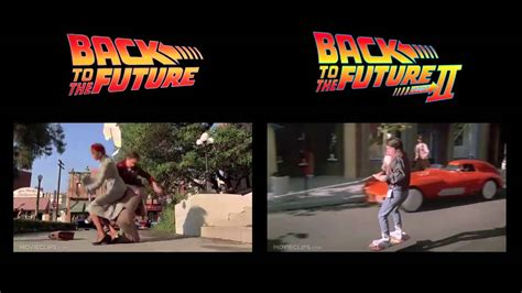 back to the future 710 clip skateboard back to the future skateboard hoverboard side by