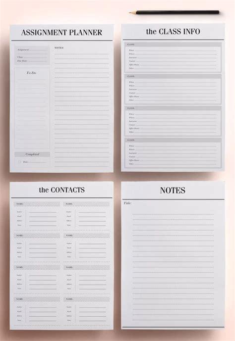 student homework planner printable free die besten 17 ideen zu student planner printable auf
