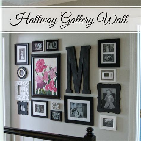 picture hanging ideas little bits of home hallway gallery wall diy projects