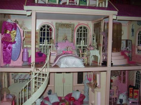 barbie doll house mansion barbie magical mansion hollywood regency glamour dollhouse ooak