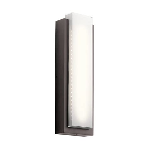 Kichler Led Outdoor Lighting Shop Kichler Dahlia 25 25 In H Architectural Bronze Led Outdoor Wall Light At Lowes
