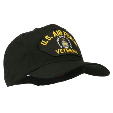 Us Air Forces Cap Black embroidered cap black us air veteran patch cap e4hats