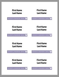 Name Tag Uw Bothell Brand Uw Bothell Avery 5303 Template