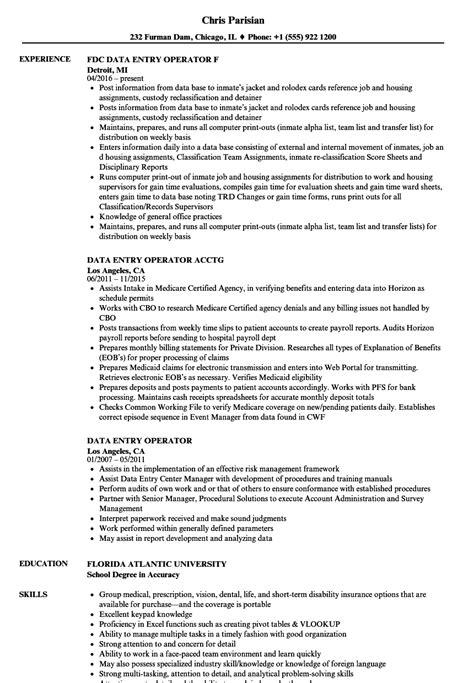 sample resume for data entry data entry resume sample sample resume