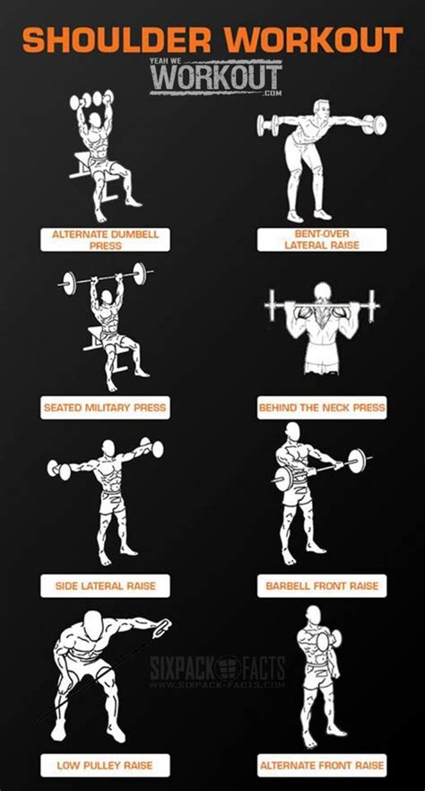 shoulder workout fitness routines and on