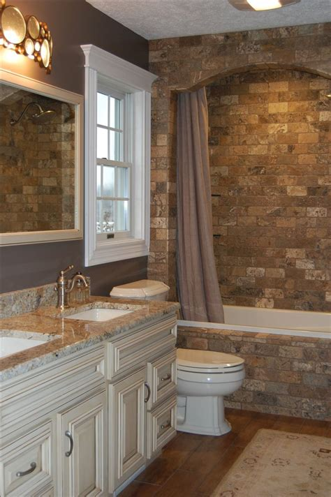 stein putz bad different color brick brick along vanity wall and extend