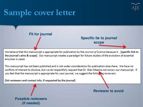 science magazine cover letter writing a cover letter for your scientific manuscript