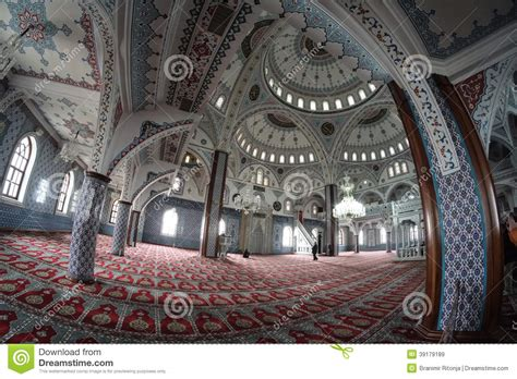 Ancient Interior by The Interior Of The Islamic Religious Temple Stock Photo