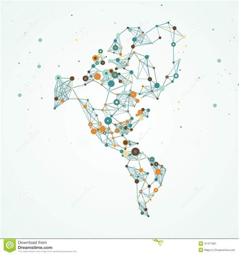 america map eps and south america map stock vector image 47477901