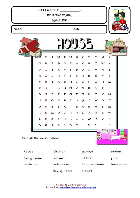 house search ld p 1 house word search