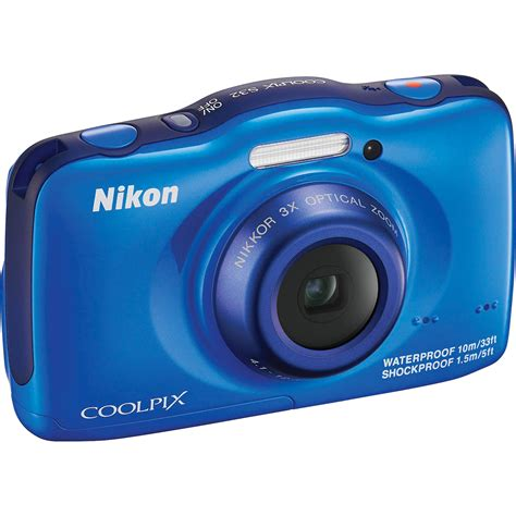 Kamera Underwater Nikon Coolpix nikon coolpix s32 digital blue 26461 b h photo