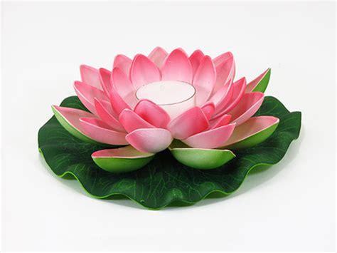 kerzenhalter blume 6 pink floating lotus flower candles