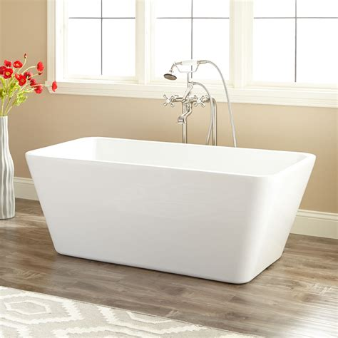 photos of bathtubs 53 quot baxter acrylic freestanding tub bathroom