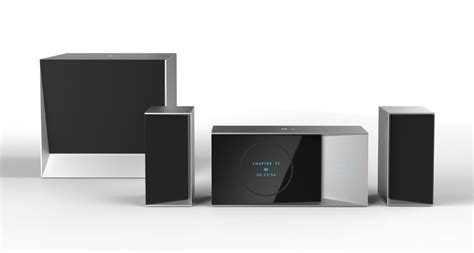information hub of besties home theater system concept